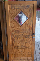 The cabin is used a lot by fishermen - and they have drawn their catches on the doors for years - impressive!
