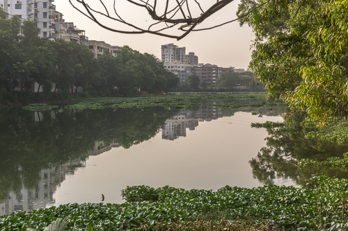 An almost idyllic part of Dhaka