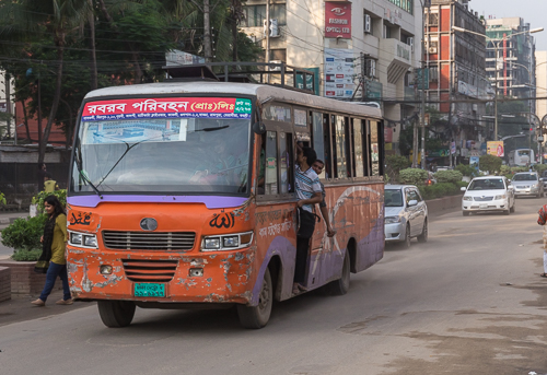 Typical bus - and this one is in quite good condition