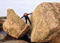 A huge cracked boulder - photo by Marie :)
