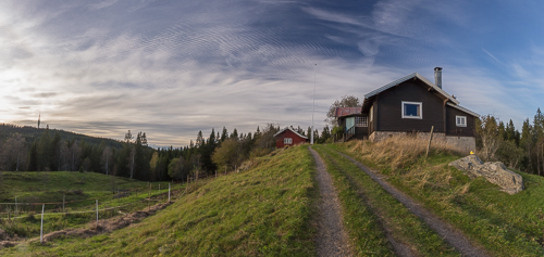 Frønsvollen panorama, with our starting point (the mast at Tryvann) on the left