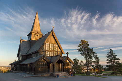 The Holmenkollen Chapel at sunset