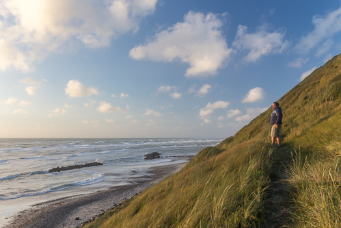 Michiel on the path following the dunes
