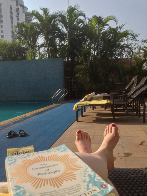 Last afternoon, finally time to relax by the pool!