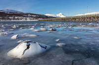 Sea ice 'barnacles' at Håkøya