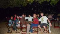 Last dinner on the beach... Photo borrowed from Karim.