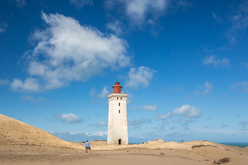 Approaching Rubjerg Knude Lighthouse