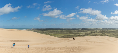Surreal landscape and views from the top of the sand dune