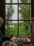 We had a lovely table by the window, we could watch the birds and boats on the water
