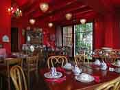 The teahouse before it was filled with a huge family party - 40 people!