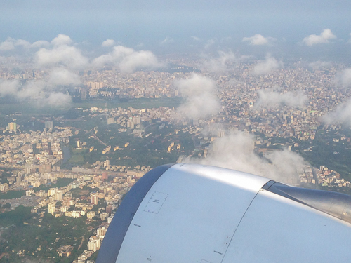 Dhaka from the plane