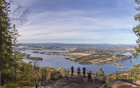 Panorama from higher up the viewpoint