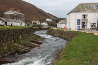 Boscastle, with the visitors centre on the right