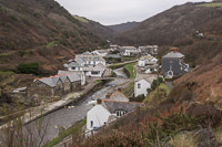 Boscastle seen from above