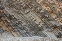 Interesting rock layers at the beach