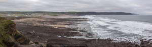 Panorama of Widemouth Bay