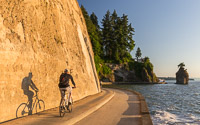 A cyclist near Siwash Rock