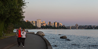 The Seawall at sunset