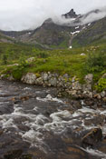 A lake and river just above Rekvik