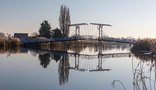 Pretty bridge over de Rotte