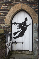 Nice door at the Witchcraft museum, which was unfortunately closed for the season