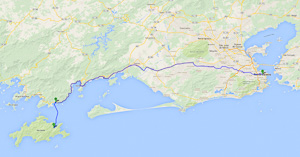 The journey from Rio de Janeiro to Ilha Grande: 2 hours by car and 45 minutes by boat