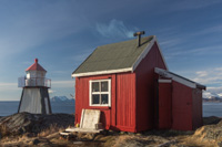 Lyngstuva lighthouse and the pretty little cabin