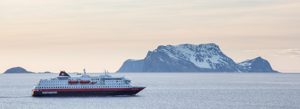 The MS Polarlys passes Nord-Fugløya