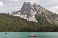 Canoers on Emerald Lake, Yoho National Park