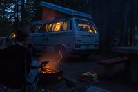 Campfire in Yoho National Park