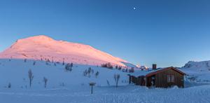 Impressive sunset at Trollvassbu