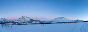 Beautiful twilight, with the Lyngen Alps in the far distance (on the left)