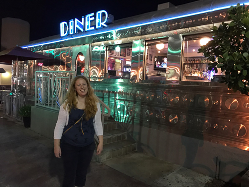 The Diner in Miami Beach where we had two amazing breakfasts