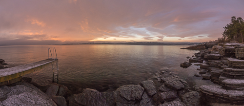 Sunset from Bygdøy - this is what it looked like when I arrived