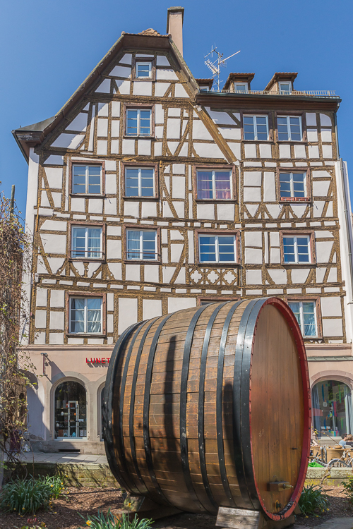 One of the typical half-timbered houses