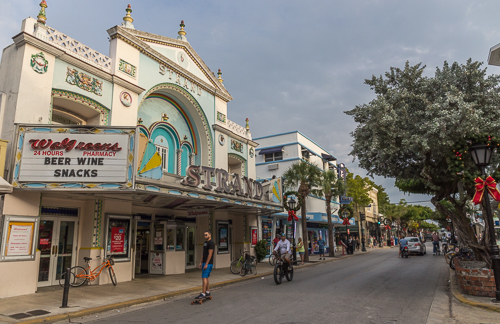 Duval Street, the main street in Key West