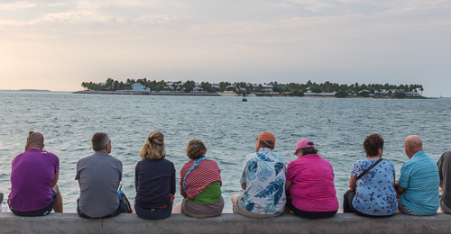 Everyone comes to Mallory Square for sunset...