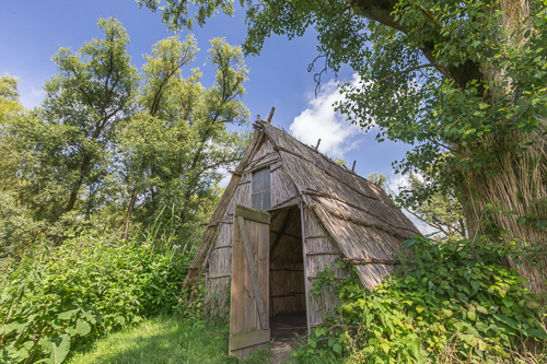 Example of a primitive hut used by willow workers