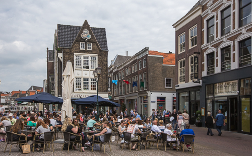 Outside cafe in Dordrecht