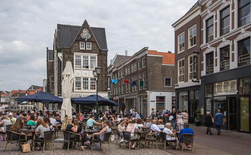 Outside cafe in Dordrecht