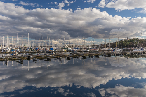 Clouds & boats
