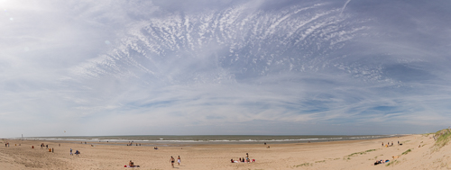 Beach panorama - I loved the clouds!