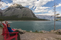 At Lake Minnewanka