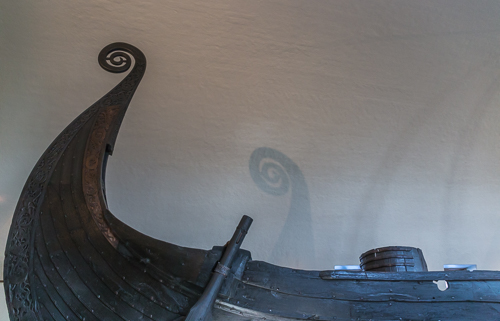 The Viking Ship Museum - loved the shadows