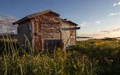 Old cabin near the beach