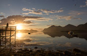 This is truly Northern Norway at its very best... (almost) midnight sun, the fjord like a mirror and the only sound are seagulls and the splashes of jumping fish