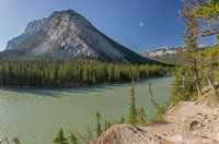 Panorama of Mount Rundle and the Bow River