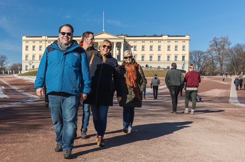 In front of the Royal Palace