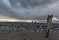 Threatening skies on the beach at Llandanwg