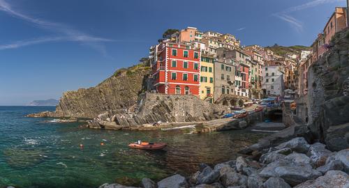 Our first stop in Cinque Terre: Riomaggiore